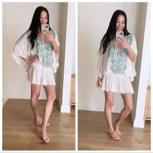 Miss June Paris Embellished Kaftan Dress White